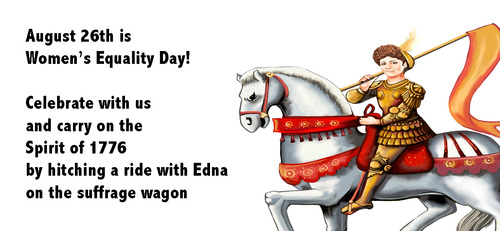 August 26th is Women's Equality Day!