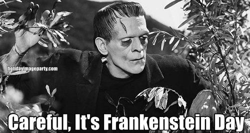 Careful, It's Frankenstein Day