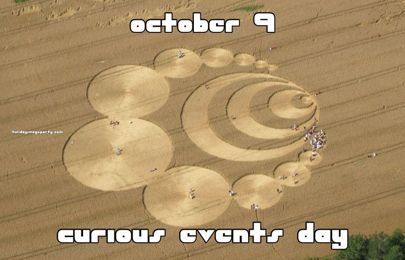 october 9 curious events day