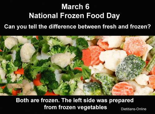 March 6 National Frozen Food Day
