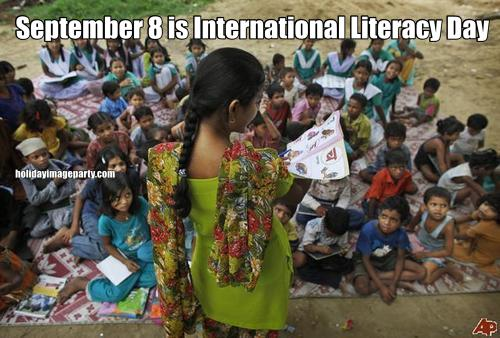 September 8 is International Literacy Day