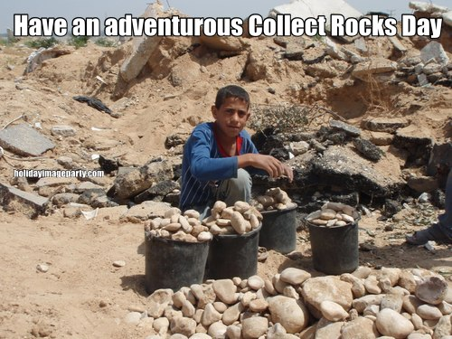 Have an adventurous Collect Rocks Day