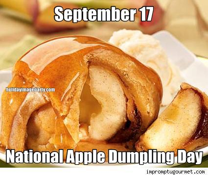September 17 National Apple Dumpling Day