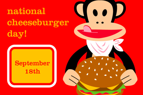 National Cheeseburger Day September 18th