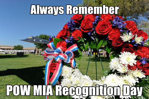 Always Remember POW MIA Recognition Day