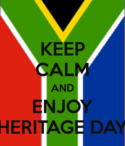 Keep Calm and enjoy Heritage Day