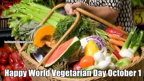 Happy World Vegetarian Day October 1