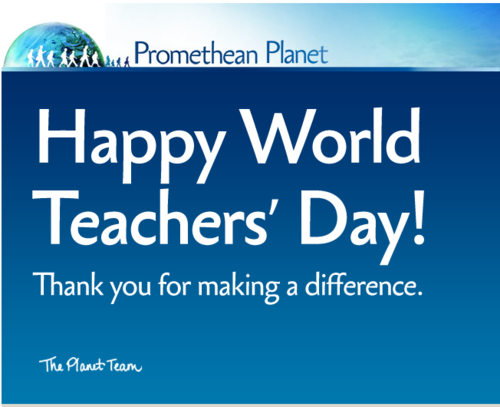 Happy World Teachers' Day Thank you for making a difference