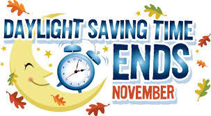 Daylight Saving Time Ends November