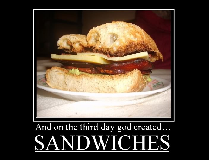 And on the third day got created sandwiches