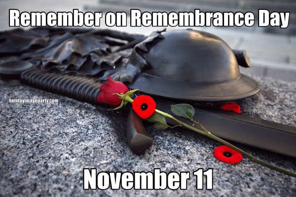 Remember on Remembrance Day November 11