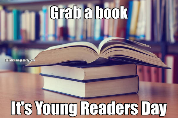 Grab a book It's Young Readers Day