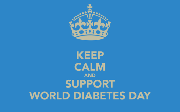 Keep calm and support World Diabetes Day