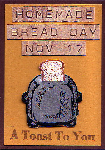 Homemade Bread Day Nov 17