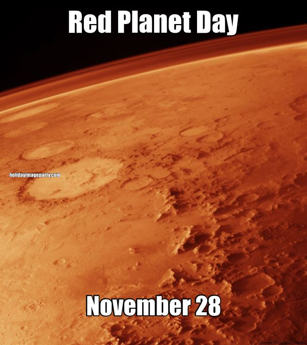 Red Planet Day November 28
