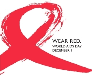 Wear Red world aids day december 1