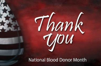 Thank you National Blood Donor Month