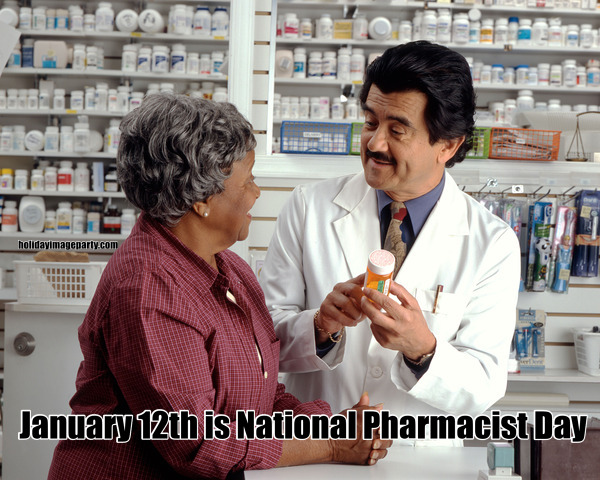 January 12th is National Pharmacist Day