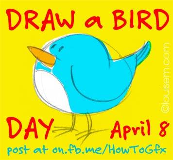 draw a bird day april 8