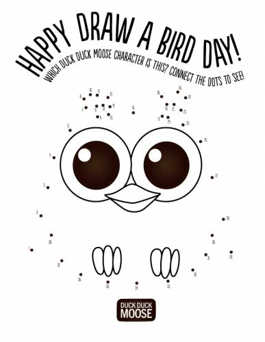 happy draw a bird day!