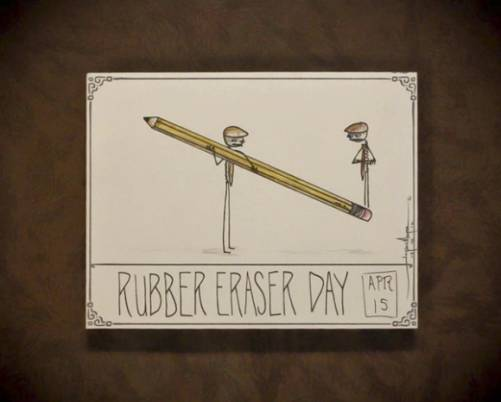 Rubber Eraser Day April 15