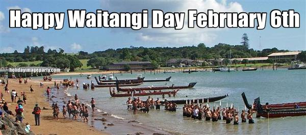 Happy Waitangi Day February 6th