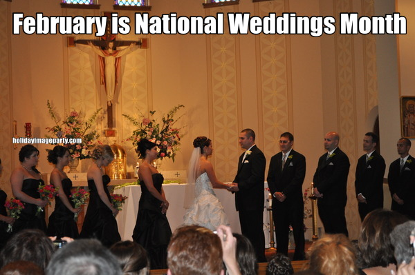 February is National Weddings Month