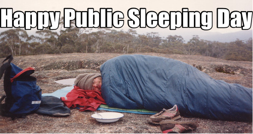 Happy Public Sleeping Day