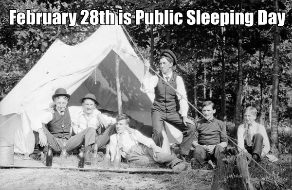 February 28th is Public Sleeping Day