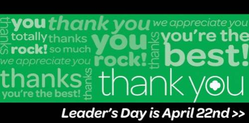 Girl Scout Leader's Day is April 22nd
