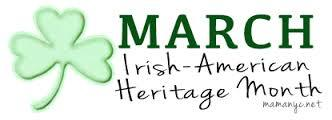 March Irish-American Heritage Month