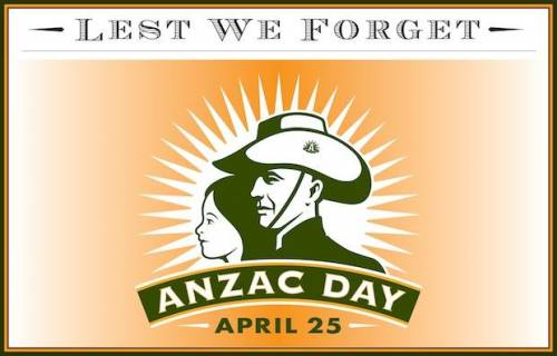 Lest We Forget Anzac Day April 25
