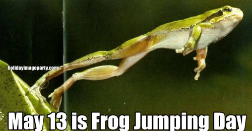 May 13 is Frog Jumping Day