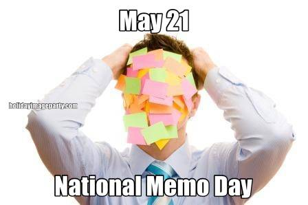 May 21 National Memo Day