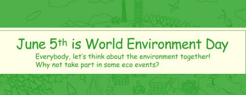 June 5th is World Environment Day