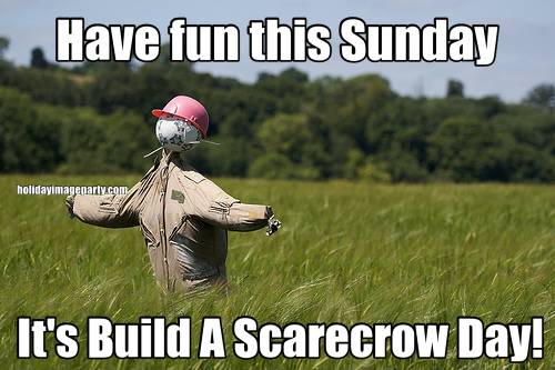Have fun this Sunday It's Build A Scarecrow Day!
