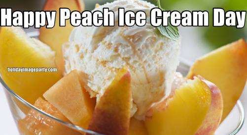 Happy Peach Ice Cream Day