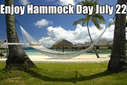 Enjoy Hammock Day July 22