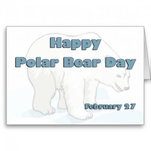 Happy Polar Bear Day February 27