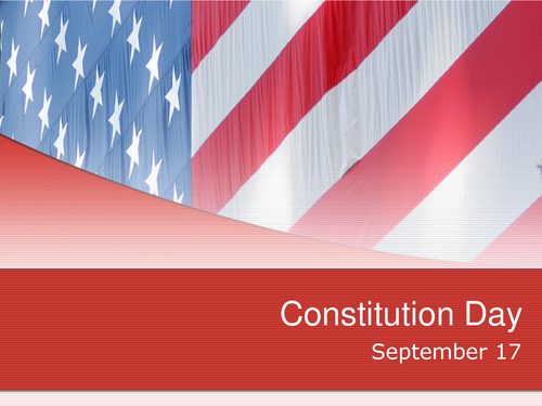 Constitution Day September 17