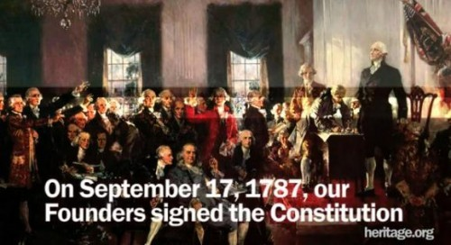 On September 17 1787 our Founders signed the Constitution