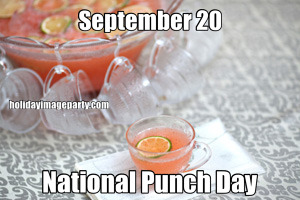 September 20 National Punch Day