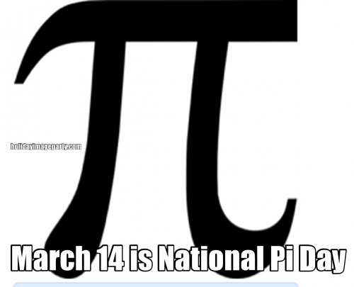 March 14 is National Pi Day