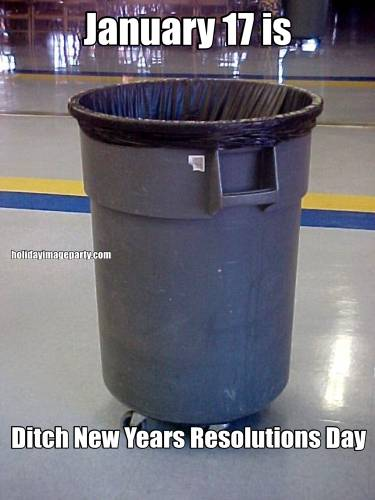 January 17 is Ditch New Years Resolutions Day