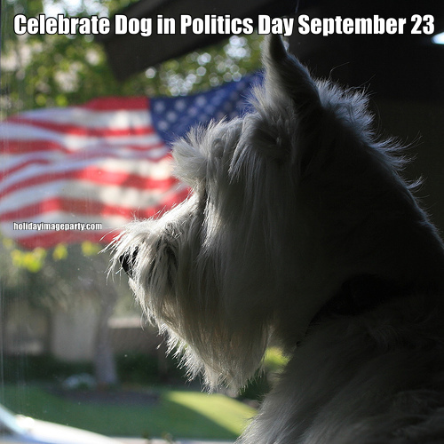 Celebrate Dog in Politics Day September 23