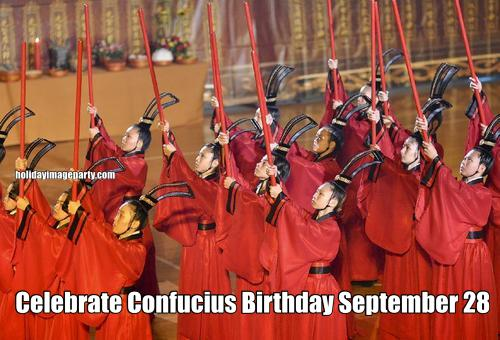 Celebrate Confucius Birthday September 28