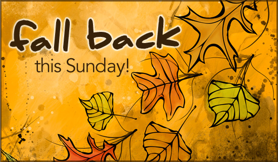 fall back this Sunday