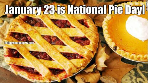 January 23 is National Pie Day!