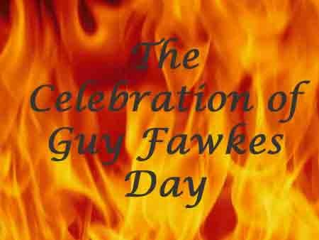 The celebration of Guy Fawkes Day