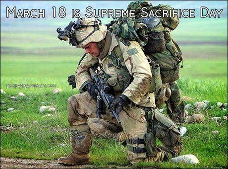 March 18 is Supreme Sacrifice Day